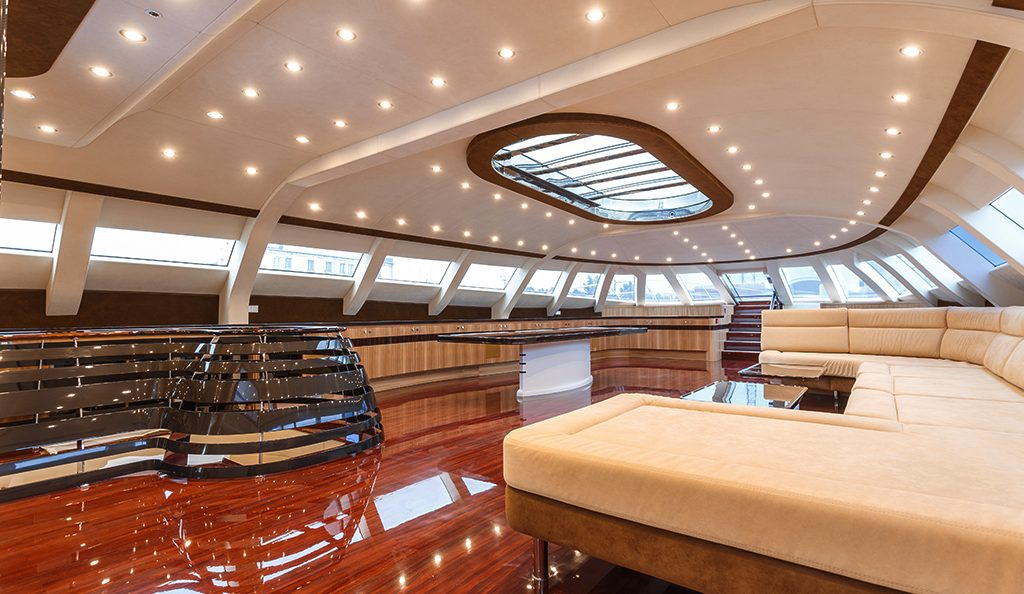 Project name: Galaxy of Happiness Date Completed: 14th July 2016 Interior  Designer: Jean Jacques Coste Galaxy of Happiness – 53-meter futuristic  designed trimaran, 299GRT with 1.5m draught and top speed of 31 knots. The  yacht has low fuel ...
