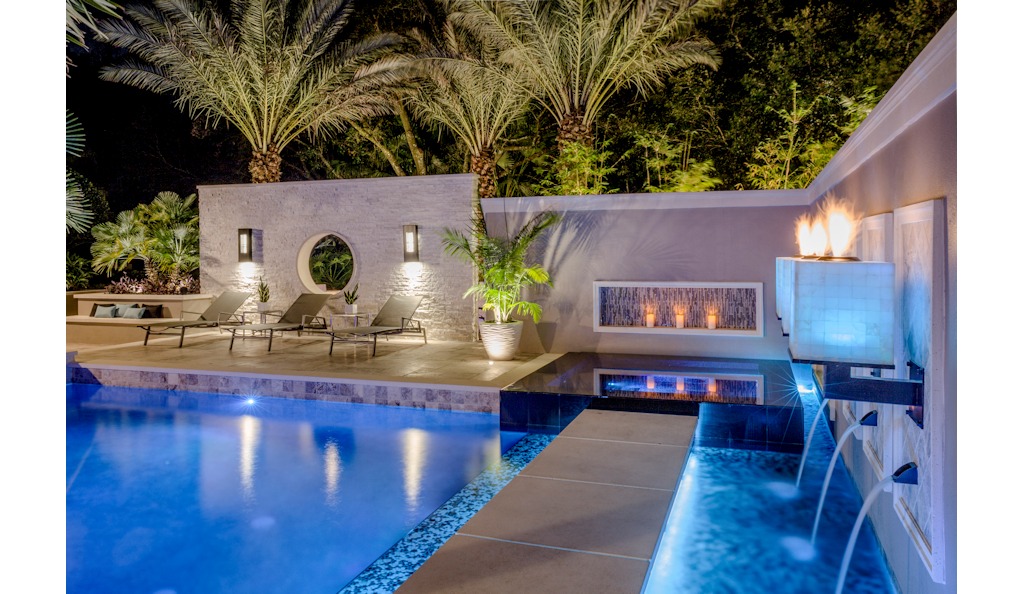 Project name big time outdoor living space for Pool design magazine