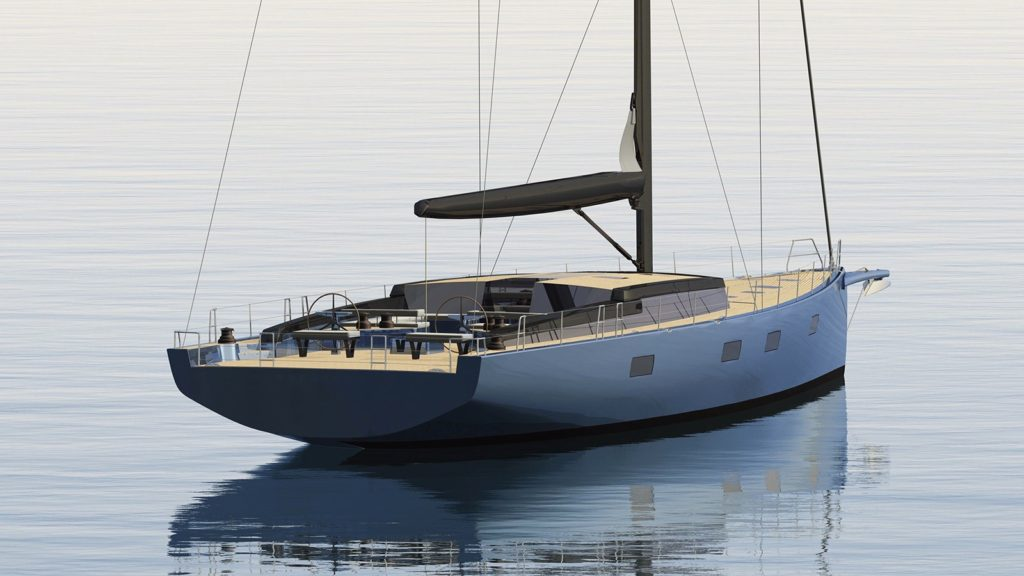 The Winch Design Sloop in collaboration with Tripp Design. Image Credit: Tripp Design